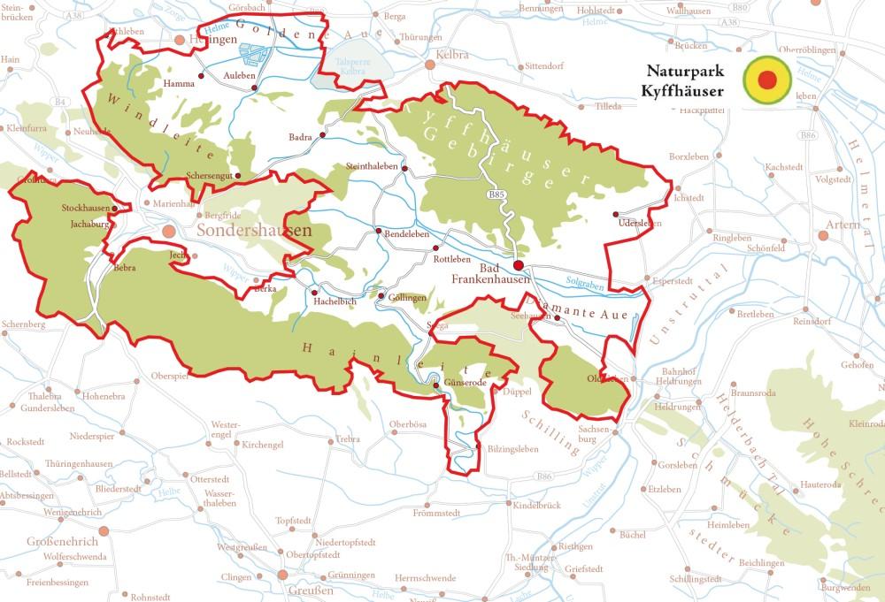 Übersichtskarte Naturpark Kyffhäuser