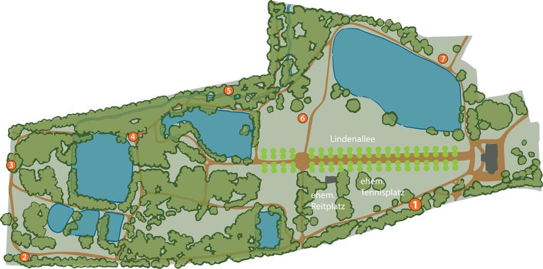 Plan Park Bendeleben Karte 1