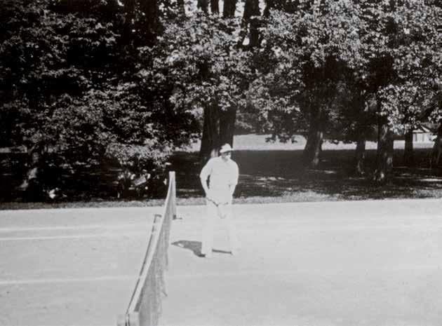 Wilhelm Hugo Ernst von Krause ließ einen Tennisplatz